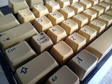 Detail očištěné klávesnice.