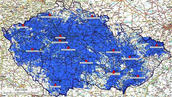 Pokrytí udávané operátorem Regionální sítě 7 a Českou televizí je podle oslovených anténářů nižší.