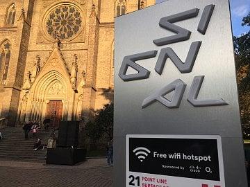 Wi-Fi hotspot na Signalu Festivalu 2016 na Náměstí Míru.