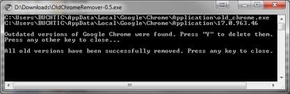 OldChromeRemover odstraní staré verze Chromu a zvýší místo na disku