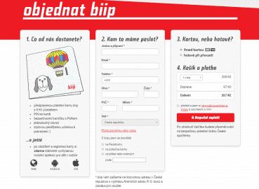 Objednávka Biip karty.