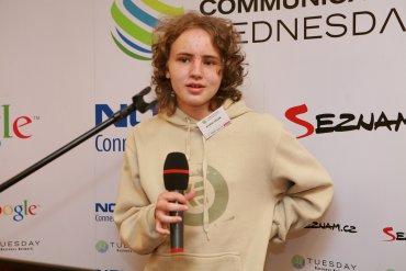 Třináctiletý Kryštof Celba představuje aplikaci Meteoradar CZ.