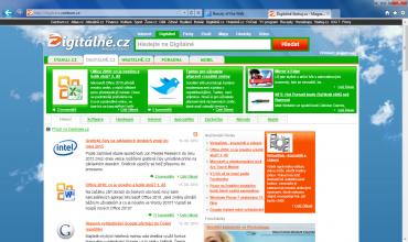 <p>Internet Explorer 9 beta - zobrazení webu digitalne.cz</p>