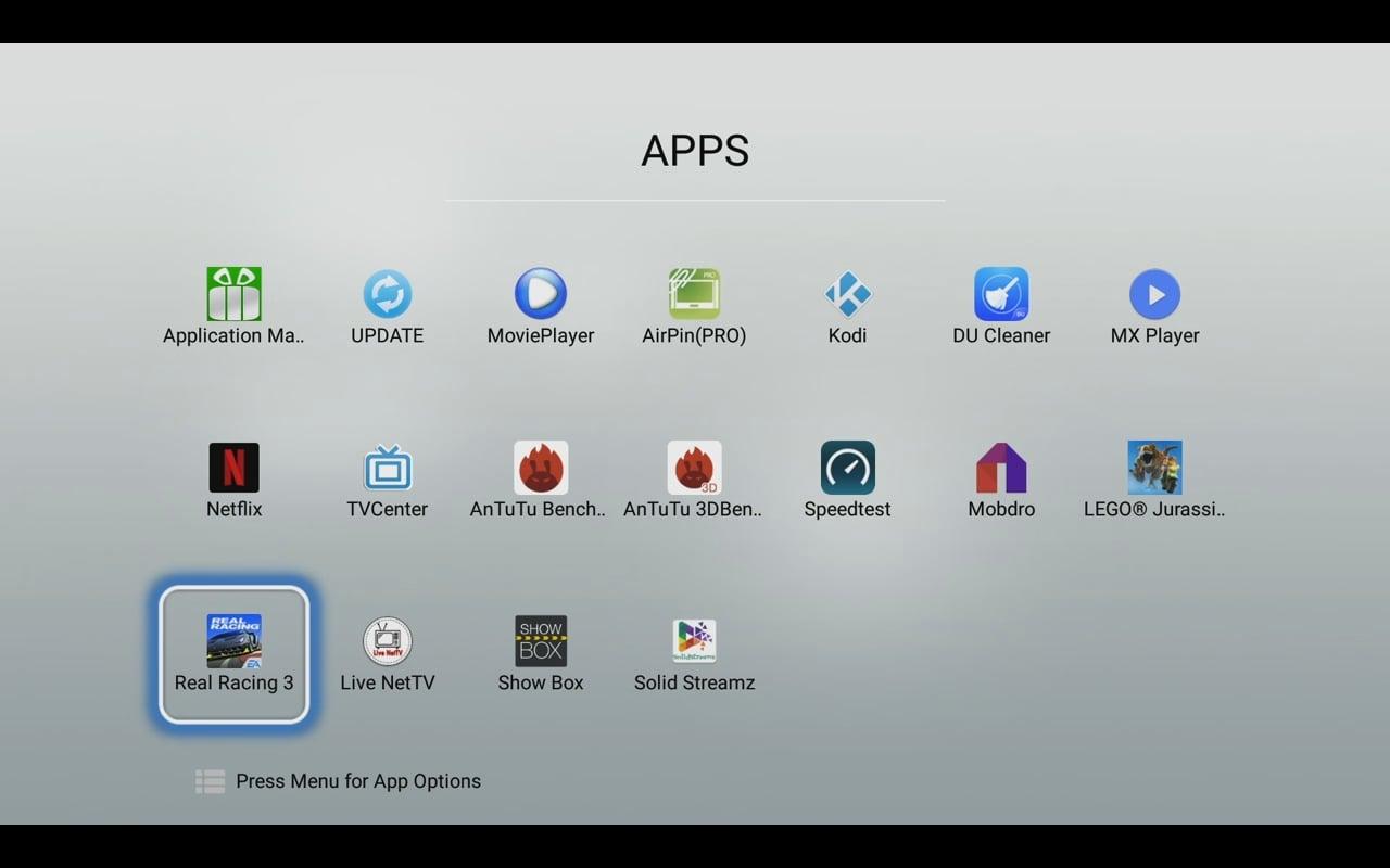 Uživatelské prostředí Mecool a systém (verze s Android 6.0)