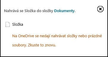 Internet Explorer nedokáže kopírovat složky na OneDrive