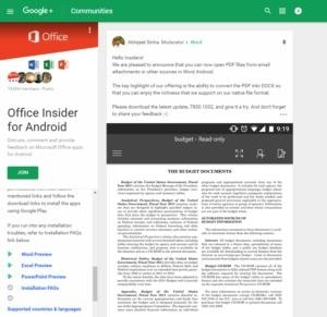 Office Insider Community for Android