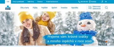 Vánoční přání ČSOB v roce 2019.