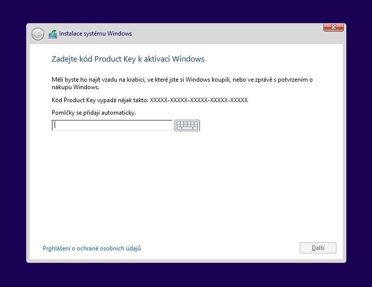 Instalační médium pro Windows 8 je sice zdarma, nicméně pokud chcete tuto verzi Windows nainstalovat, stejně potřebujete produktový klíč