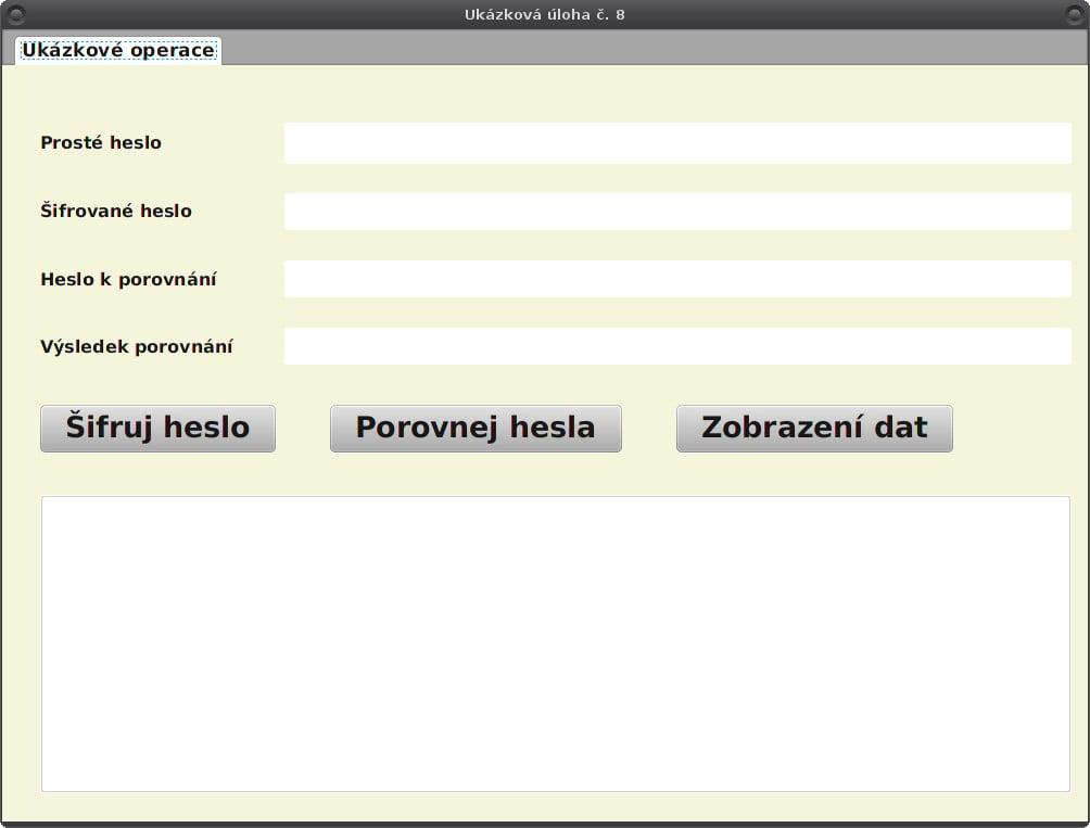 JavaFX: příprava tabulek pro šifrované heslo