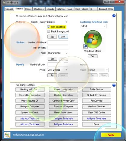 WinBubble je komplexní nástroj pro správu Windows
