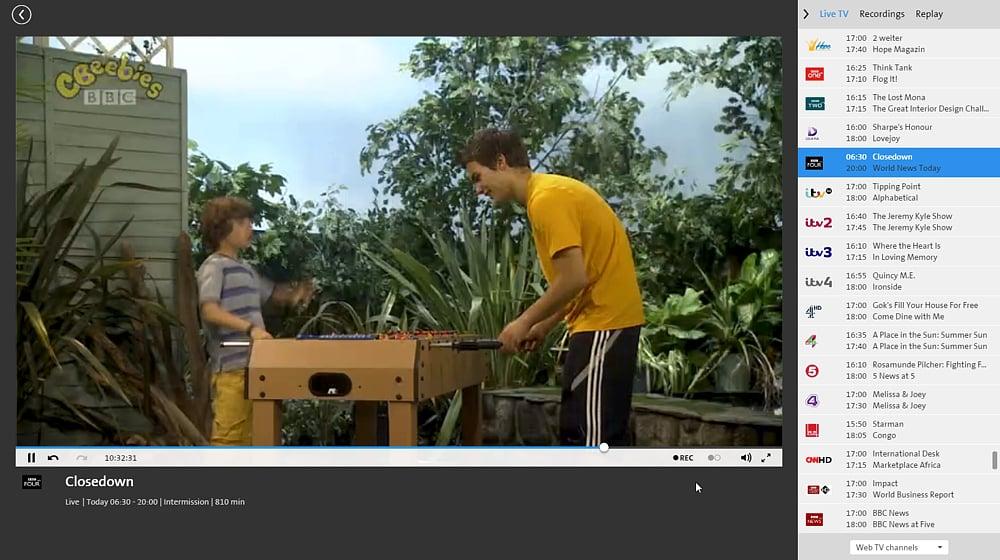 Swisscom TV Air - britské programy