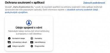 Clubhouse informace o soukromí z App Store