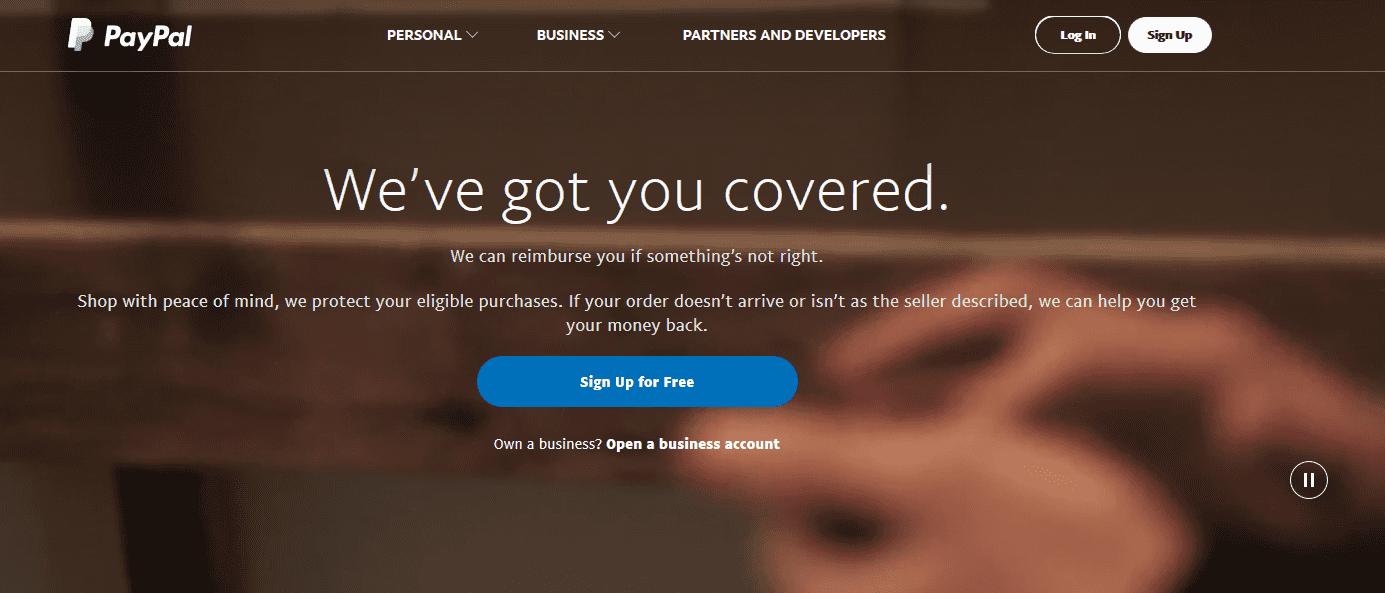 PayPal peněženka
