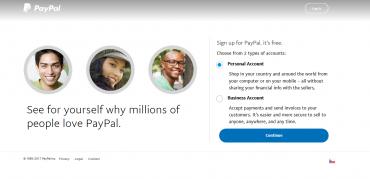 Tady si vybíráte, jestli chcete účet pro osobní potřebu jako zákazník, nebo jestli chcete firemní účet a budete poskytovat nějaké služby.