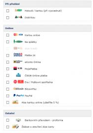 """PayPal peněženku pak můžeme využít při nakupování, kdy nechceme zadávat číslo platební karty. Vybereme variantu """"PayPal"""" a pokračujeme dále."""