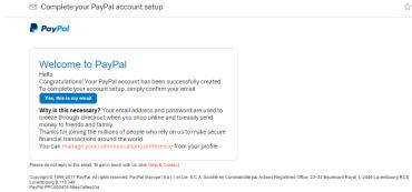 Ověřovací e-mail, který nám přišel poté, co jsme chtěli náš účet ověřit přes e-mailovou adresu.
