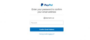 Po prokliknutí odkazu z e-mailu je nutné se znovu přihlásit do svého účtu.