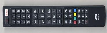 Dálkový ovladač s hodně výrazným tlačítkem pro VoD službu Netflix.
