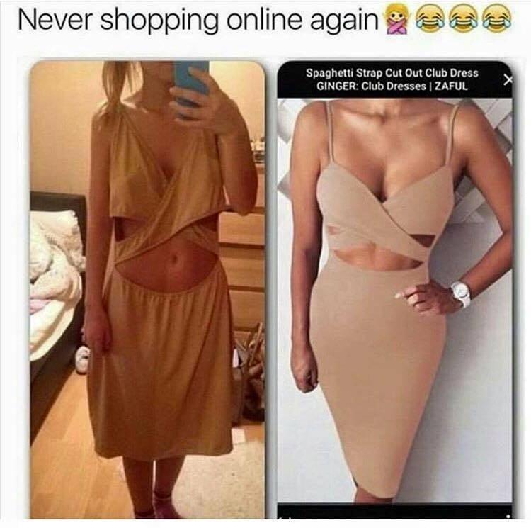 Nákup oblečení na internetu: Nabídka versus realita