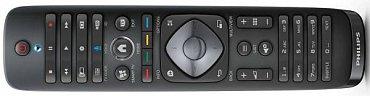 Tradiční dálkový ovladač Philipsu najdete i u modelů uvedených letos. Jen nemusí být pohybový a oboustranný (z druhé strany je zde klávesnice QWERTY) a u jednodušších výrobků najdete například na místo Multiview, funkci List.