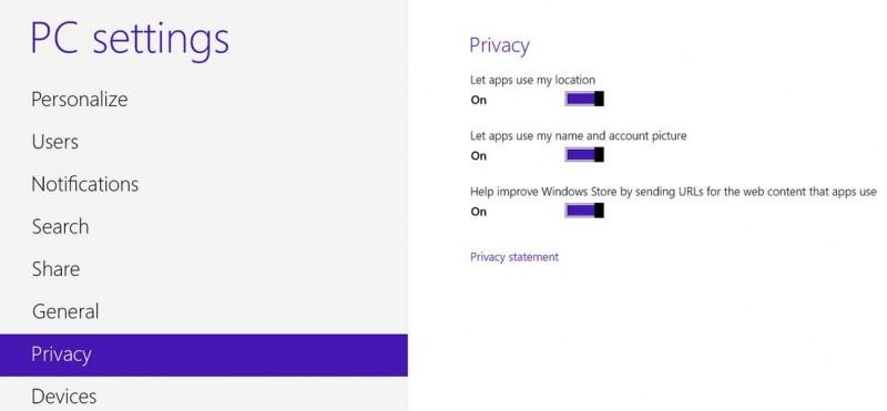 Ve Windows 8 si můžete upravit nastavení soukromí přesně podle svých představ
