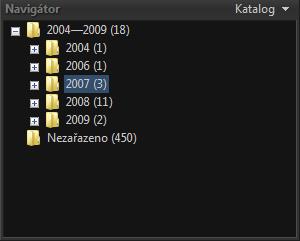 <p>Fotky jsou v katalogu setříděny podle času pořízení</p>