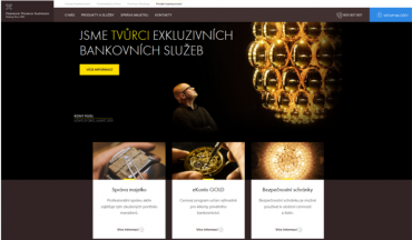 Nový web pro klienty privátního bankovnictví.