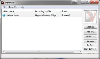 DamnVid stáhnete videa z internetu a převede pro váš přehrávač