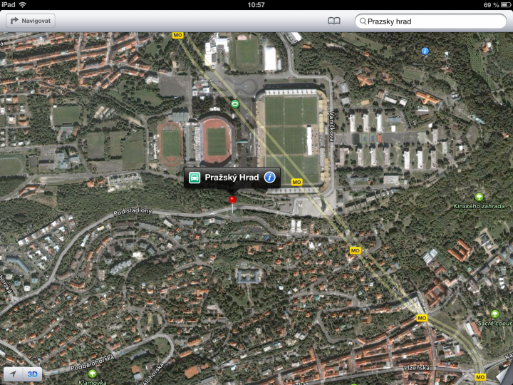 Nové mapy v iOS 6