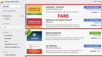 Fake adblockers
