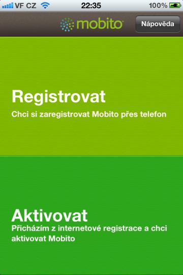 Registrace a aktivace Mobita