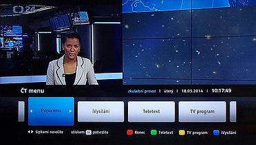 Po připojení k internetu fungovalo HbbTV bezproblémově a hlavně spolehlivě. Stačí jen na stanicích ČT zmáčknout červené teletextové tlačítko.