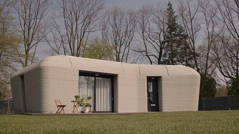 Nizozemský dům z 3D tiskárny.