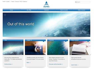 Nové webové stránky satelitního operátora SES. Obrázek lze zvětšit.