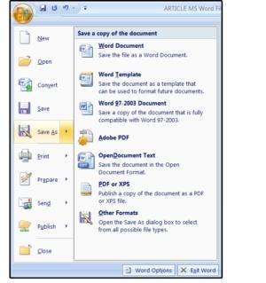 Uložení dokumentu ve formátu PDF