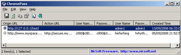 ChromePass vytáhne hesla z Chrome