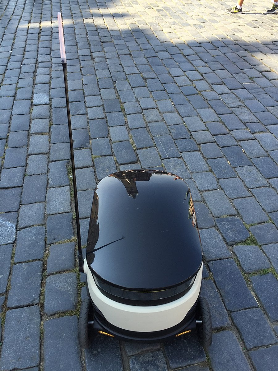 Autonomní vozítka Starship Technologies v Praze