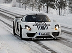 Porsche 918 na sněhu
