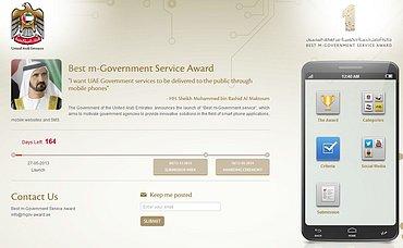 Soutěž o nejlepší vládní mobilní službu.