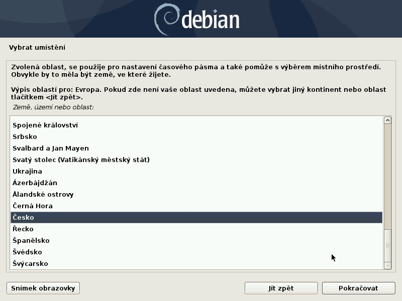 Debian 10 Buster instalace