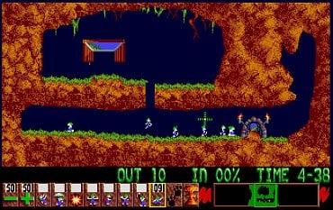 Lemmings - Amiga. Hry jsou si na obou počítačích velmi podobné, drobné rozdíly (např. v nástrojové liště) jsou vizuálně znatelné pouze při přímém srovnání.
