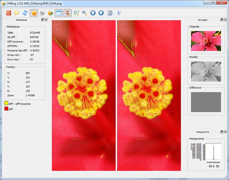DiffImg porovná obsah dvou obrázků a najde rozdíly mezi nimi