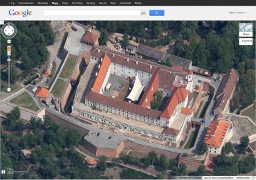 Google Maps z 45° - Brno