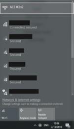 Nakonfigurované připojení k síti VPN prostřednictvím IKEv2 v operačním systému Windows 10