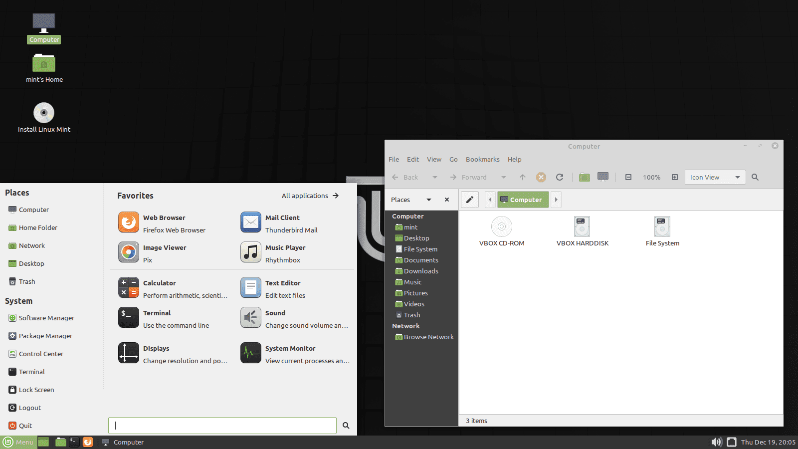 Linux Mint 19.3 MATE