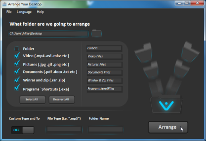 Arrange Your Desktop vám uklidí na Ploše