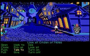 The Secret of Monkey Island - herní obrazovka - Atari ST.
