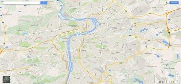 Homepage Google Maps a důraz na mapu.