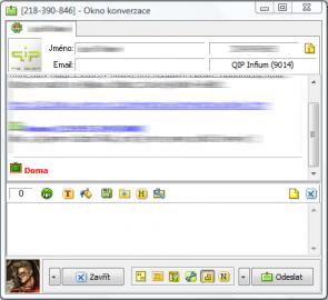 QIP - Rozšířené zobrazení komunikačního okna