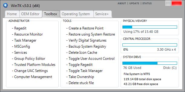 WinTK usnadní život administrátorům Windows